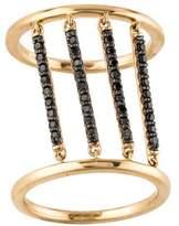 Alison Lou 14K Diamond Jail Ring