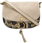 Chloé Kurtis shoulder bag - women - Snake Skin/Suede - One Size