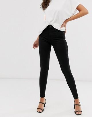 Vero Moda skinny jeans in black