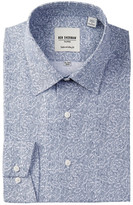 Ben Sherman Long Sleeve Tailored Slim Fit Linear Floral Dress Shirt