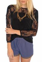 Myne Lace Silk Top