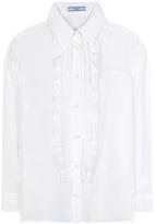 Prada Ruffled silk blouse