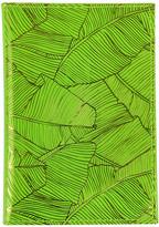 Undercover Leather Passport Holder - Fluorescent Green & Pineapple
