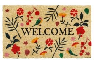 """Home & More Bliss Welcome 17"""" x 29"""" Coir/Vinyl Doormat Bedding"""
