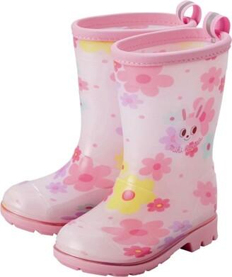 Mikihouse Miki House Floral Print Rain Boots