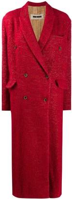 UMA WANG Textured Double-Breasted Coat