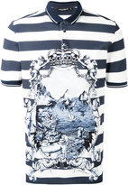 Dolce & Gabbana printed polo shirt - men - Cotton - 46