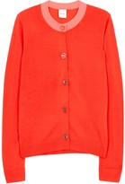 Paul Smith Coral Wool And Silk Blend Cardigan