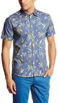 Pepe Jeans Men Mcnamara Regular Fit Classic Short Sleeve Casual Shirt