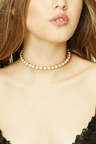 Forever 21 FOREVER 21+ Faux Pearl Collar Necklace