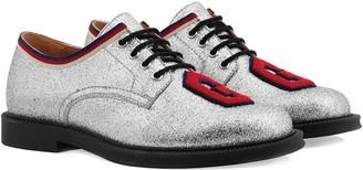 Gucci Kids glitter lace-up shoes