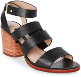French Connection Black Ciara Open Toe Block Heel Sandals