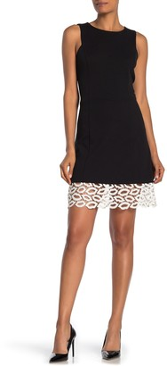 Betsey Johnson Lace Hem Sleeveless Midi Dress