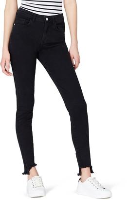 Find. Amazon Brand Women's Skinny Mid Rise Stretch Step Hem Jeans