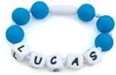 Blue Personalized Teething Bracelet