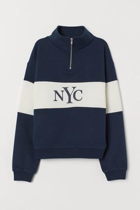 H&M Stand-up collar sweatshirt