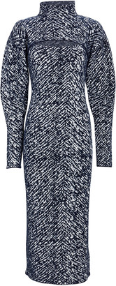 3.1 Phillip Lim Herringbone Jacquard Midi Dress