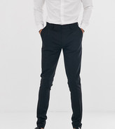 Asos Design DESIGN Tall super skinny fit suit pants in black