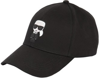 Karl Lagerfeld Paris K/Ikonik Cotton Baseball Hat