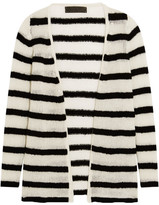 The Elder Statesman Mr Simple Striped Cashmere Cardigan - Black