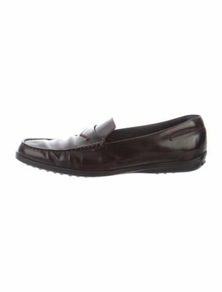 Tod's Leather Loafers Brown