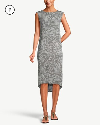 Petite Travelers Classic Sleeveless Printed Wedge Dress