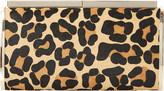 Dune Britney leopard print calf-hair clutch