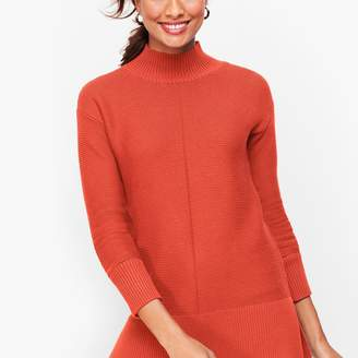 Talbots Links Stitch Mockneck Sweater