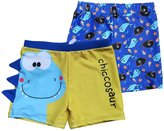 Bonverano Kid's Boys UPF 50+ Board Shorts Free Swim Cap(2 Pack) (24-36m, )