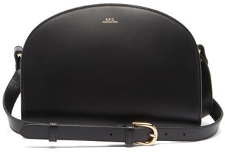 A.P.C. Half Moon Smooth-leather Cross-body Bag - Black