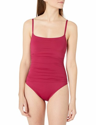 La Blanca Women's Island Goddess Rouched Body Lingerie Mio One Piece Swimsuit