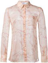 Altuzarra floral print sheer shirt