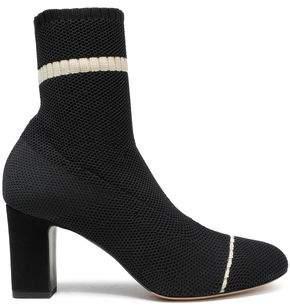 Tabitha Simmons Anna Waffle-knit Sock Boots