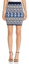 Cupcakes And Cashmere Devera Geo Print Mini Skirt