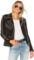 Understated Leather Easy Rider Studded Jacket in Black. - size M (also in S)