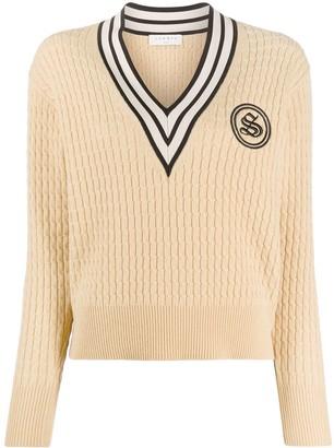 Sandro Tony cable knit jumper