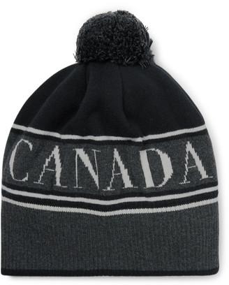 Canada Goose Logo-Intarsia Wool-Blend Beanie