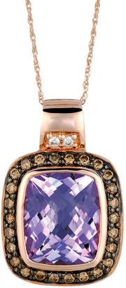 LeVian Le Vian 14K Rose Gold 4.90 Ct. Tw. Diamond & Amethyst Necklace