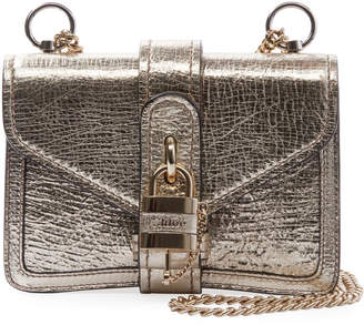 Chloé Aby Mini Metallic Leather Shoulder Bag