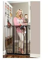 """Regalo Deluxe Easy Step 41"""" Extra-tall Walk Through Pet & Baby Safety Security Gate Black - Steel Construction Durable and Sturdy - 1-hand Open with Safety Locking Feature by"""