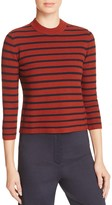 Theory Lemdora Striped Crewneck Sweater