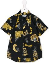 Young Versace baroque print shirt