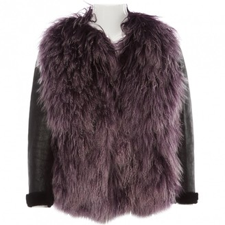 Miu Miu Purple Shearling Jacket for Women