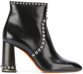 Santoni studded ankle boots - women - Leather/rubber - 37