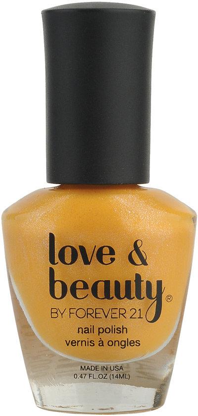 Forever 21 Love 21 Yellow Diamond Nail Polish