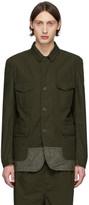 Comme des Garcons Homme Homme Khaki Multi-Fabric Garment-Dyed Field Blazer