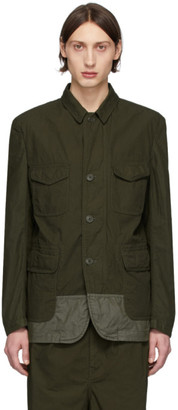 Comme des Garçons Homme Khaki Multi-Fabric Garment-Dyed Field Blazer