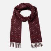 Ted Baker Men's Redpine Spot Scarf - Dark Red