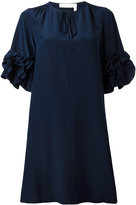 See by Chloe ruffled sleeve dress - women - Silk/Viscose - 38