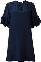 See by Chloe ruffled sleeve dress - women - Viscose/Silk - 38